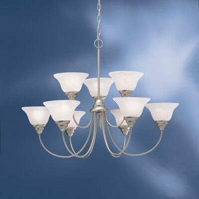 Ruhlman Traditional 9-Light Shaded Chandelier