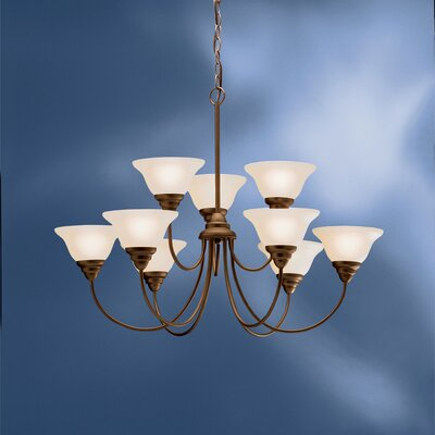 Ruhlman 9-Light Shaded Chandelier
