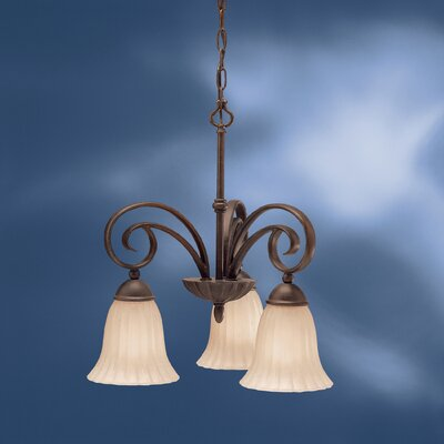 Bafford 3-Light Shaded Chandelier