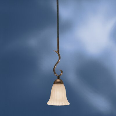 Bafford 1-Light Mini Pendant Finish: Tannery Bronze