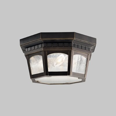 Flinders 3-Light Flush Mount Finish: Rubbed Bronze