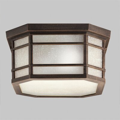 Mosley 3-Light Flush Mount Finish: Prairie Rock