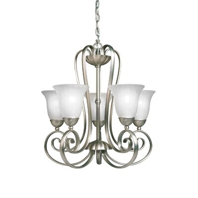 Bafford Traditional 5-Light Shaded Chandelier