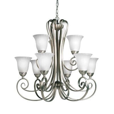 Bafford 9-Light Shaded Chandelier