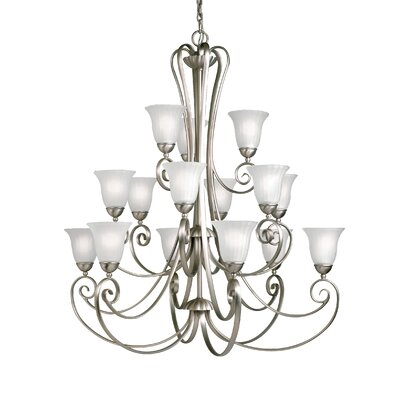 Bafford 15-Light Shaded Chandelier