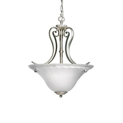 Bafford 2-Light Inverted Pendant Finish: Brushed Nickel