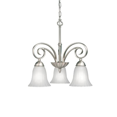 Bafford Traditional 3-Light Shaded Chandelier