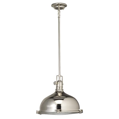 Fresnel 1-Light Pendant Finish: Polished Nickel