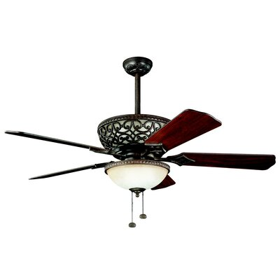 52 Maglione 5-Blade Ceiling Fan Finish: Tannery Bronze