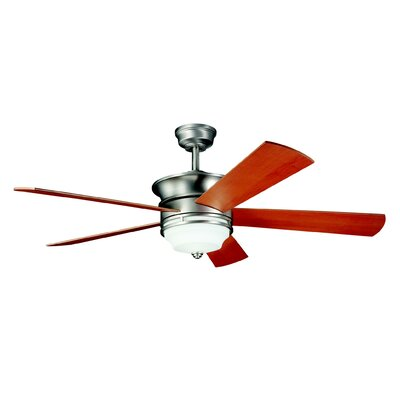 52 Hendrik 5-Blade Ceiling Fan Finish: Brushed Nickel with Cherry/Maple Blades