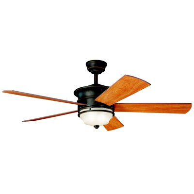 52 Hendrik 5-Blade Ceiling Fan Finish: Olde Bronze with Cherry/Walnut Blades