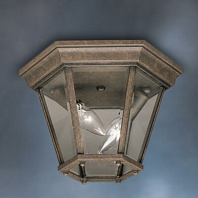 Jerins 2-Light Flush Mount Finish: Tannery Bronze