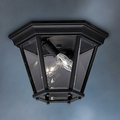 Jerins 2-Light Flush Mount Finish: Painted Black