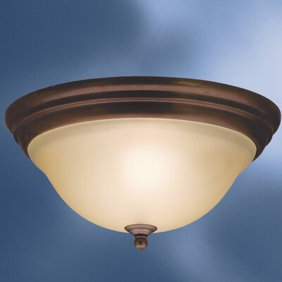 Ruhlman 2-Light Flush Mount Finish: Olde Bronze