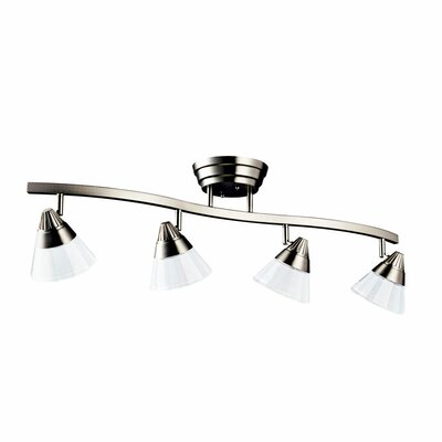 Jacqulyn 4 LED Light Semi Flush Mount Finish: Brushed Nickel