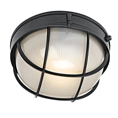 Circular 1-Light Flush mount Finish: Black