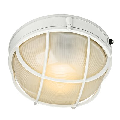 Circular 1-Light Flush mount Finish: White