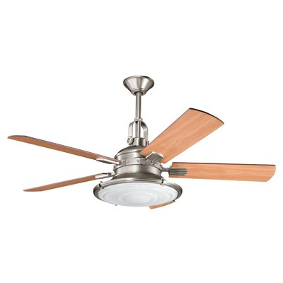 52 Maglione 5 Blade LED Ceiling Fan Finish: Antique Pewter with Dark Cherry Blades
