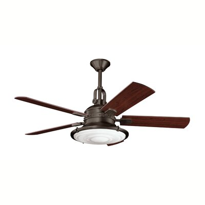 52 Maglione 5 Blade LED Ceiling Fan Finish: Olde Bronze with Cherry/Walnut Blades