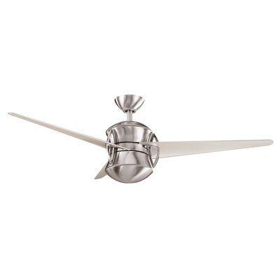 54 Cadencec 3-Blade Ceiling Fan Finish: Brushed Stainless Steel with Champagne Blades