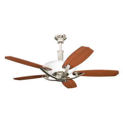 56 Palla 5-Blade Ceiling Fan Finish: Polished Nickel with Maple/Sapelle Blades