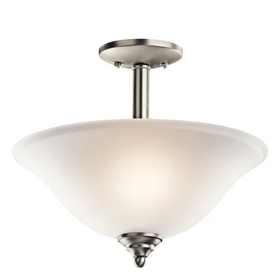 Wynberg 2-Light Semi Flush Mount Finish: Brushed Nickel