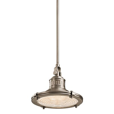Teisha 1-Light Pendant Light Size: 9.25 H x 12 W, Color: Antique Pewter