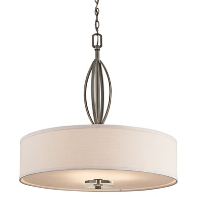 Leighton 3-Light Inverted Drum Pendant
