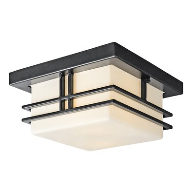 Modena 2-Light Flush Mount Bulb Type: Fluorescent