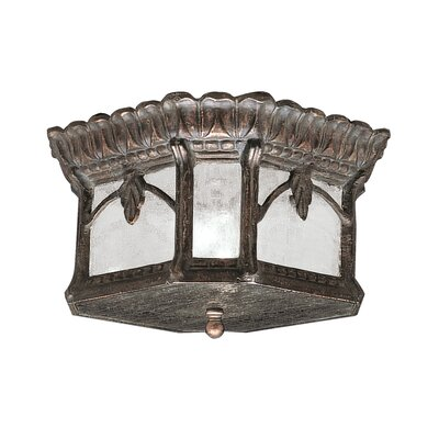 Tournai 2-Light Flush Mount Finish: Londonberry