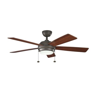 52 Starkk 5 Blade Ceiling Fan Finish: Olde Bronze with Walnut and Cherry Blades