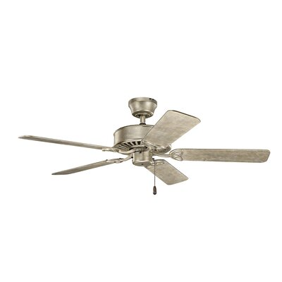50 Borgen 5-Blade Steel Ceiling Fan Finish: Sterling Gold with Walnut/Sterling Gold Blades