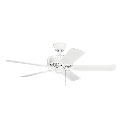 50 Borgen 5-Blade Steel Ceiling Fan Finish: Matte White with White Blades