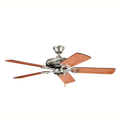 52 Sutter Place 5-Blade Ceiling Fan Finish: Antique Pewter with Dark/Light Cherry Blades