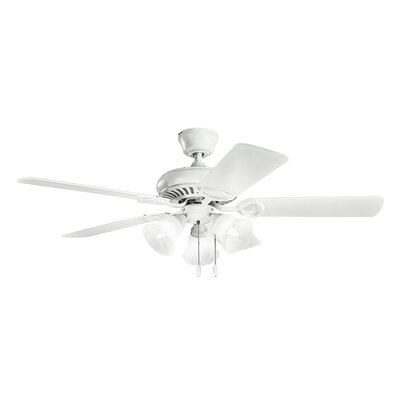 52 Sutter Place Premier 5-Blade Ceiling Fan Finish: Matte White with White Blades