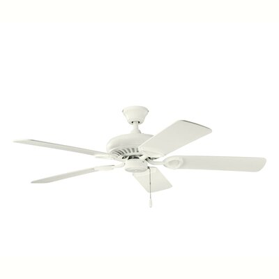 52 Sutter Place 5-Blade Ceiling Fan Finish: Satin Natural White with White Blades