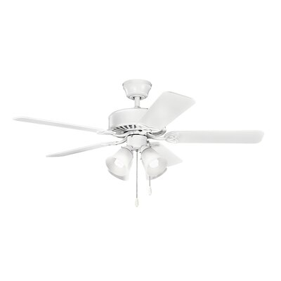 Birch Creek 50 Borgen 5-Blade Ceiling Fan Finish: Matte White with White Blades