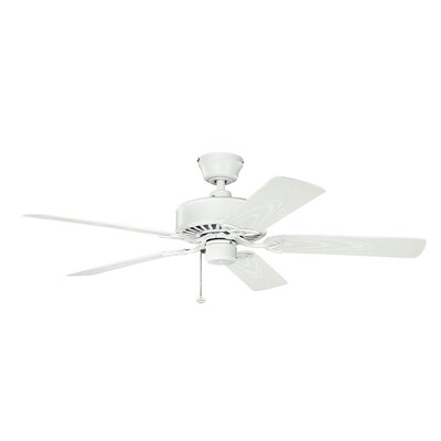 52 Borgen 5-Blade Ceiling Fan Finish: Matte White with White Blades