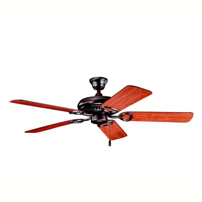 52 Sutter Place 5-Blade Ceiling Fan Finish: Oil Brushed Bronze with Cherry/Walnut Blades