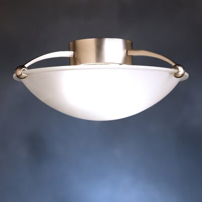 Brushed Nickel IncandescentSemi Flush Mount