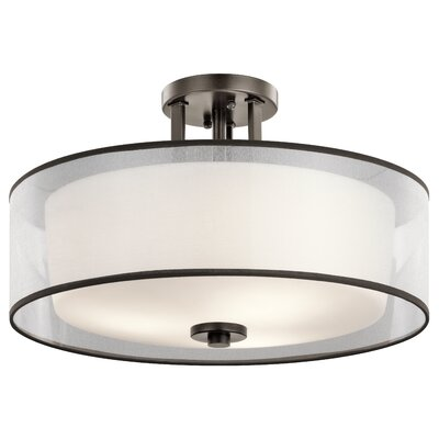 Prall 3-Light Semi Flush Mount Finish: Bronze