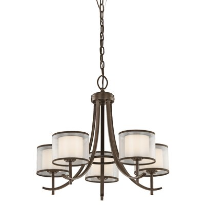 Taasi Chandelier in Mission Bronze