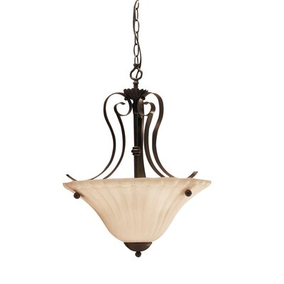 Bafford 2-Light Inverted Pendant Finish: Tannery Bronze