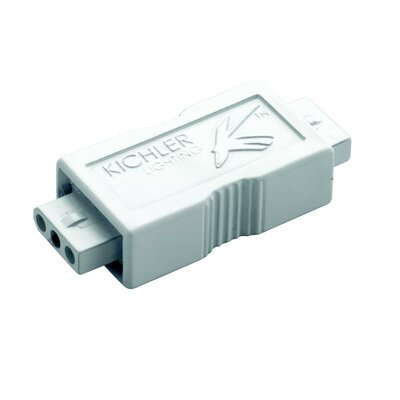 LED Male Connector (Set of 3) Finish: White
