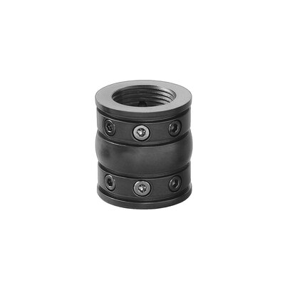 Cumberland Decorative Coupler Finish: Satin Black