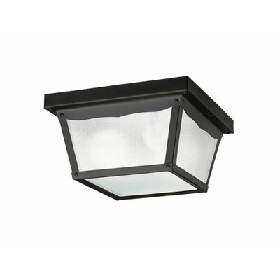 2-Light Flush Mount Finish: Painted Black