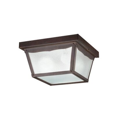 2-Light Flush Mount Finish: Tannery Bronze