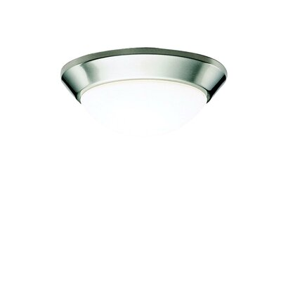 10 Ceiling Space Flush Mount in Brushed Nickel