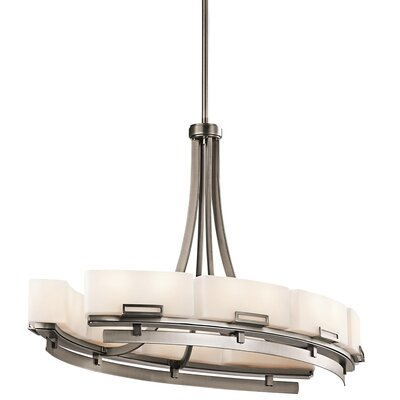 Bonifant 12-Light Kitchen Island Pendant Finish: Antique Pewter