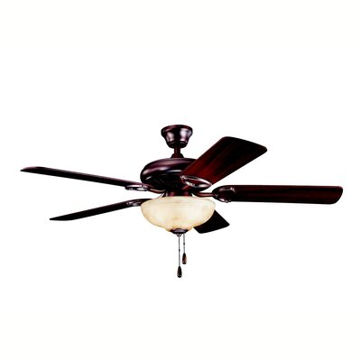 52 Sutter Place Select 5-Blade Ceiling Fan Finish: Oil Brushed Bronze with Cherry/Walnut Blades
